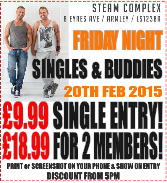 Steam-Complex-Friday-Singles-&-Buddy-Discount